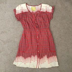 Maeve button front dress